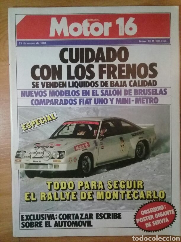 MOTOR 16 NÚMERO 13 21 ENERO 1984 ESPECIAL RALLY MONTECARLO (Coches y Motocicletas - Revistas de Motos y Motocicletas)