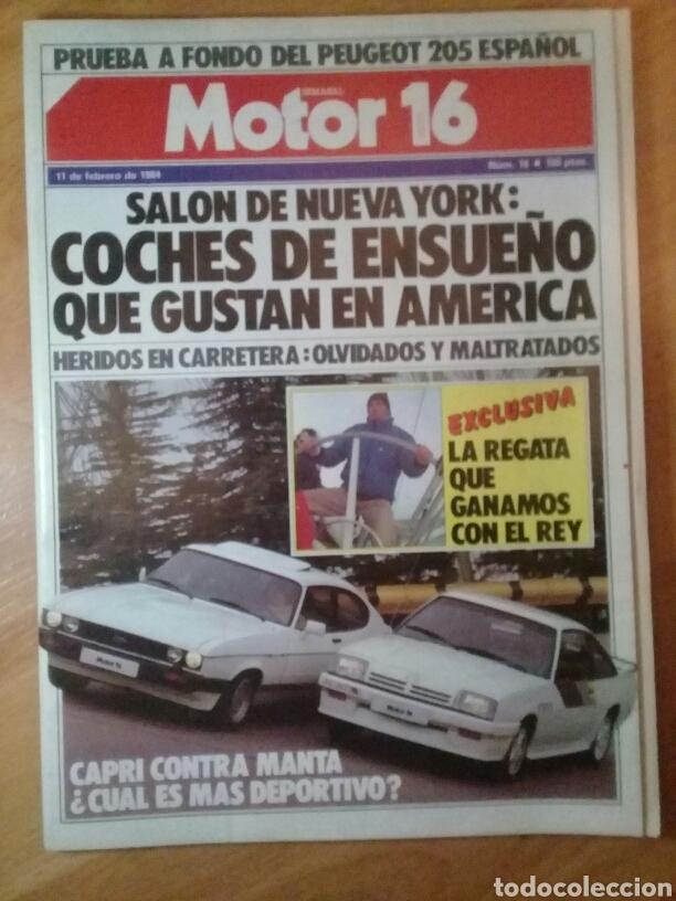 MOTOR 16 11 DE FEBRERO 1984 NÚMERO 16 (Coches y Motocicletas - Revistas de Motos y Motocicletas)