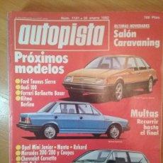 Coches y Motocicletas: REVISTA AUTOPISTA 1181 AUTO SPORT 30 ENERO 1982. Lote 113033292