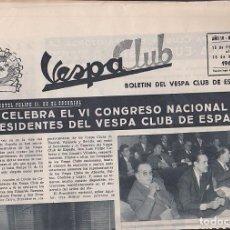 Coches y Motocicletas: REVISTA VESPA CLUB Nº 32 FEBRERO 1960 VESPA CLUB DE ESPAÑA . Lote 107643003