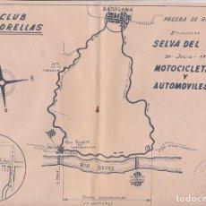 Coches y Motocicletas: PLANO RURT 2ª CIRCUITO SELVA DEL VALLES 30 JULIO 1961 MOTO CLUB MARTORELLAS . Lote 107643747