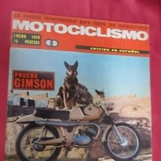 Coches y Motocicletas: REVISTA MOTOCICLISMO. ENERO 1970. PRUEBA GIMSON. MOTOS DE ESPAÑA CATALOGO COMPLETO. . Lote 107732791