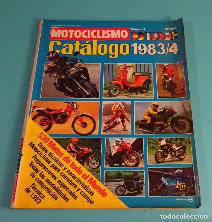 REVISTA MOTOCICLISMO Nº 4. CATÁLOGO 1983 / 4 (Coches y Motocicletas - Revistas de Motos y Motocicletas)