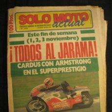 Coches y Motocicletas: SOLO MOTO ACTUAL - Nº 503 - PERIODICO SEMANAL DE INFORMACION MOTO - 29 OCTUBRE/4 NOVIEMBRE 1985.. Lote 108811175
