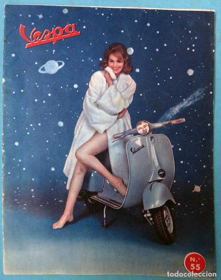CATALOGO REVISTA MOTO VESPA , Nº 55 , ENERO FEBRERO 1960 , ORIGINAL (Coches y Motocicletas - Revistas de Motos y Motocicletas)