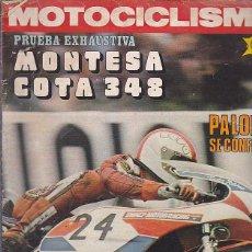 Coches y Motocicletas: REVISTA MOTOCICLISMO Nº 488 PRUEBA MONTESA COTA 348. Lote 109268091