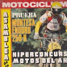 Coches y Motocicletas: REVISTA MOTOCICLISMO Nº 487PRUEBA MONTESA ENDURO 250-H. Lote 109268987