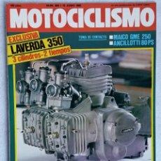 Coches y Motocicletas: REVISTA MOTOCICLISMO Nº 906. AÑO 1985. 15 DE JUNIO. CCAVENDE.. Lote 102757579