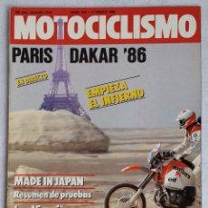 Coches y Motocicletas: REVISTA MOTOCICLISMO Nº 935. AÑO 1986. 11 DE ENERO. CCAVENDE. Lote 102771575