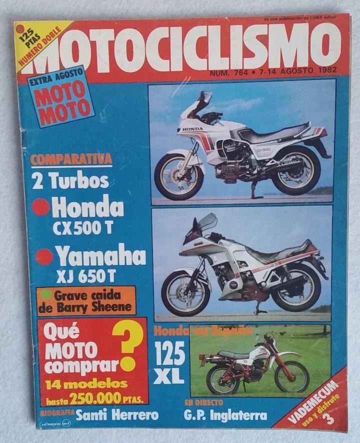 REVISTA MOTOCICLISMO Nº 764. AÑO 1982. EXTRA AGOSTO. GP INGLATERRA. HONDA CX 500 - YAMAHA XJ 650. (Coches y Motocicletas - Revistas de Motos y Motocicletas)