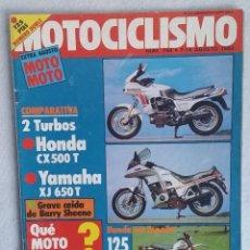 Coches y Motocicletas: REVISTA MOTOCICLISMO Nº 764. AÑO 1982. EXTRA AGOSTO. GP INGLATERRA. HONDA CX 500 - YAMAHA XJ 650.. Lote 102795699