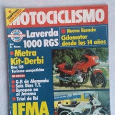 Coches y Motocicletas: REVISTA MOTOCICLISMO Nº 770 . AÑO 1982.. EXTRA OCTUBRE. LAVERDA RGS 1000. G.P. ALEMANIA.. Lote 102795931