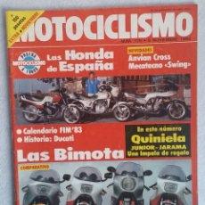 Coches y Motocicletas: REVISTA MOTOCICLISMO Nº 775. AÑO 1982. EXTRA NOVIEMBRE. HONDA CB 900 F. BIMOTA.. Lote 102795995