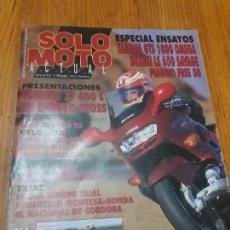 Coches y Motocicletas: REVISTA DE MOTOCICLISMO SÓLO MOTO ACTUAL NÚMERO 872 AÑO 1993. Lote 110411423
