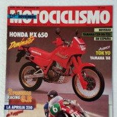 Coches y Motocicletas: REVISTA MOTOCICLISMO Nº 1028. AÑO 1987. 5 NOVIEMBRE . EXTRA NOVIEMBRE. CCAVENDE.. Lote 103389947