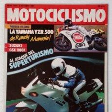 Coches y Motocicletas: REVISTA MOTOCICLISMO Nº 1024. AÑO 1987. 8 OCTUBRE . CCAVENDE.. Lote 103388427