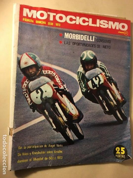 REF-LAU REVISTA MOTO MOTOCICLISMO ANGEL NIETO 1973 POSTER YAMAHA 500 CONTRA. GILERA 150 (Coches y Motocicletas - Revistas de Motos y Motocicletas)