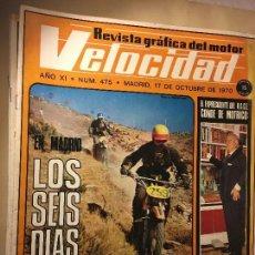Coches y Motocicletas: REF-LAU REVISTA COCHE COCHES VELOCIDAD 1970 MOTOCICLISMO CONDE DE MOTRICO. Lote 111284743