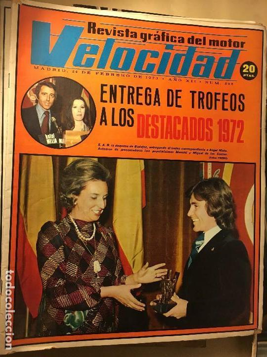 REF-LAU REVISTA COCHE COCHES VELOCIDAD 1973 Nº 598 ANGEL NIETO ENTREGA TROFEOS 1972 (Coches y Motocicletas - Revistas de Motos y Motocicletas)