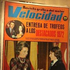 Coches y Motocicletas: REF-LAU REVISTA COCHE COCHES VELOCIDAD 1973 Nº 598 ANGEL NIETO ENTREGA TROFEOS 1972. Lote 111285419