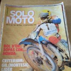 Coches y Motocicletas: **REVISTA,---SOLO MOTO--- 24 SEPTIEMBRE 1978**. Lote 111961895
