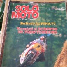Coches y Motocicletas: **REVISTA,---SOLO MOTO--- 8 JULIO 1977**. Lote 111964418