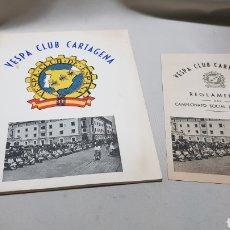Coches y Motocicletas: VESPA MOTO CLUB CARTAGENA ESPAÑA 1956 ESTATUTOS Y REGLAMENTO. Lote 112913407