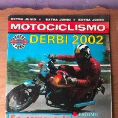 Coches y Motocicletas: REVISTA MOTOCICLISMO CON POSTER NUM 612 EXTRA PRUEBA DERBI 2002 PRESENTACION LAVERDA 1200 JUBILEE. Lote 113119459