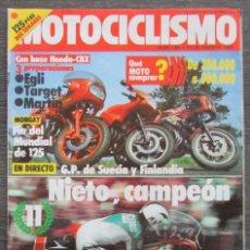 Coches y Motocicletas: MOTOCICLISMO Nº 8765 1982 NIETO CAMPEON, HONDA CBX EGLI - TARGET - MARTIN / GP SUECIA / MOTO CROSS. Lote 113569551