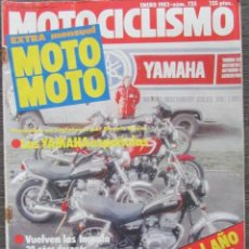 Coches y Motocicletas: MOTOCICLISMO Nº 735 ENE 1982, LAS YAMAHA ESPAÑOLAS, VUELVEN LA MONTESA IMPALA. YAMAHA XJ 650. SWM 75. Lote 113569707