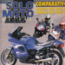 Coches y Motocicletas: REVISTA SOLO MOTO ACTUAL Nº 869 AÑO 1993. PRUEBA: HONDA CBR 600 F 93. TEST: BMW K 1100 RS. . Lote 113613959