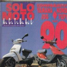 Coches y Motocicletas: REVISTA SOLO MOTO ACTUAL Nº 795 AÑO 1991. COMPARATIVA: HONDA YUPI Y YAMAHA JOG. . Lote 113615807