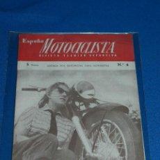 Coches y Motocicletas: REVISTA - ESPAÑA MOTOCICLISTA , REVISTA TECNICO DEPORTIVA 1952 - NUMERO 4. Lote 113655611