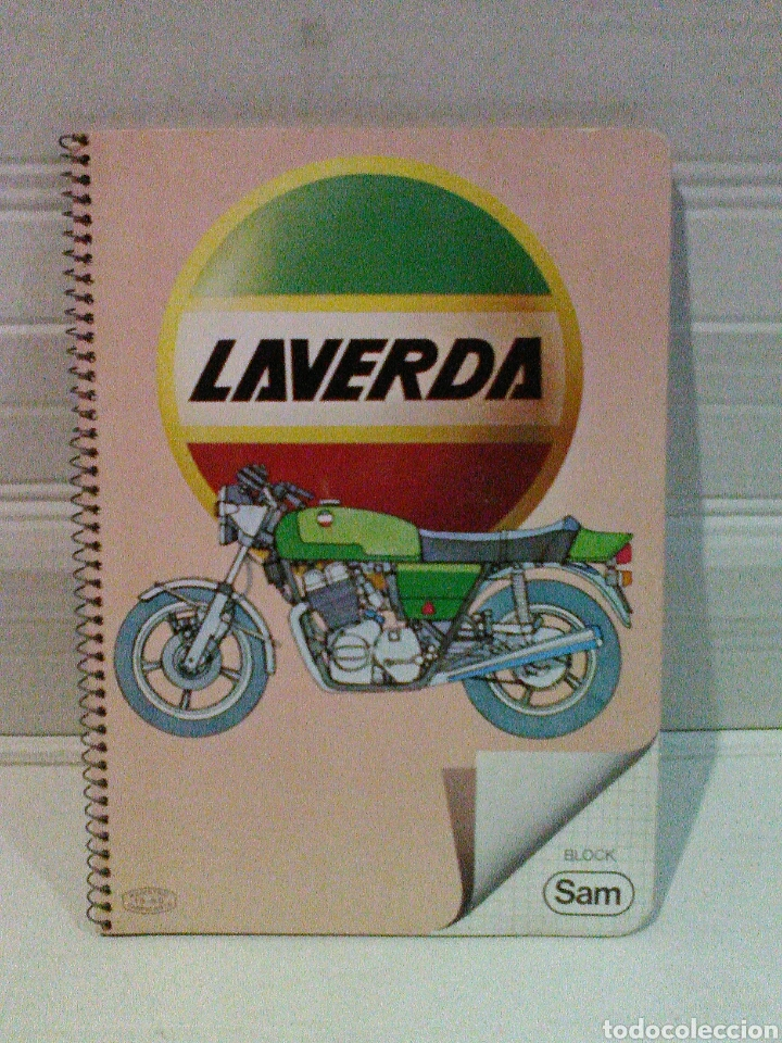 CUADERNO BLOCK SAM MOTO LAVERDA (Coches y Motocicletas - Revistas de Motos y Motocicletas)