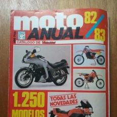 Coches y Motocicletas: CATALOGO DE VELOCIDAD MOTO ANUAL 82 83 1982 1983. Lote 114312359
