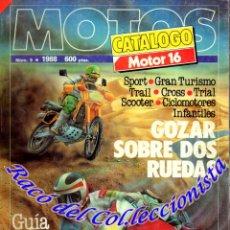 Coches y Motocicletas: MOTOS CATALOGO MOTOR 16 Nº 9 1988. Lote 114531843
