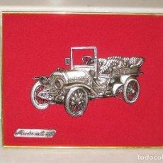 Coches y Motocicletas: CUADRO ATERCIOPELADO CON MERCEDES MOD.1903 EN METAL.. Lote 115363735