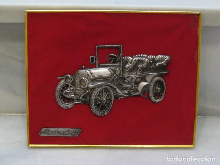 Coches y Motocicletas: Cuadro aterciopelado con Mercedes Mod.1903 en metal. - Foto 2 - 115363735
