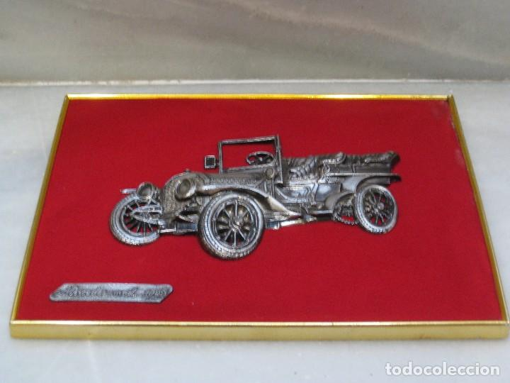 Coches y Motocicletas: Cuadro aterciopelado con Mercedes Mod.1903 en metal. - Foto 3 - 115363735