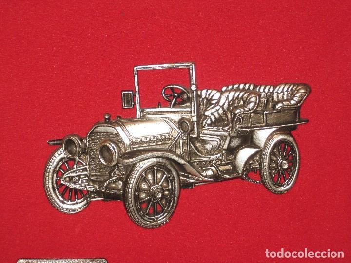 Coches y Motocicletas: Cuadro aterciopelado con Mercedes Mod.1903 en metal. - Foto 7 - 115363735