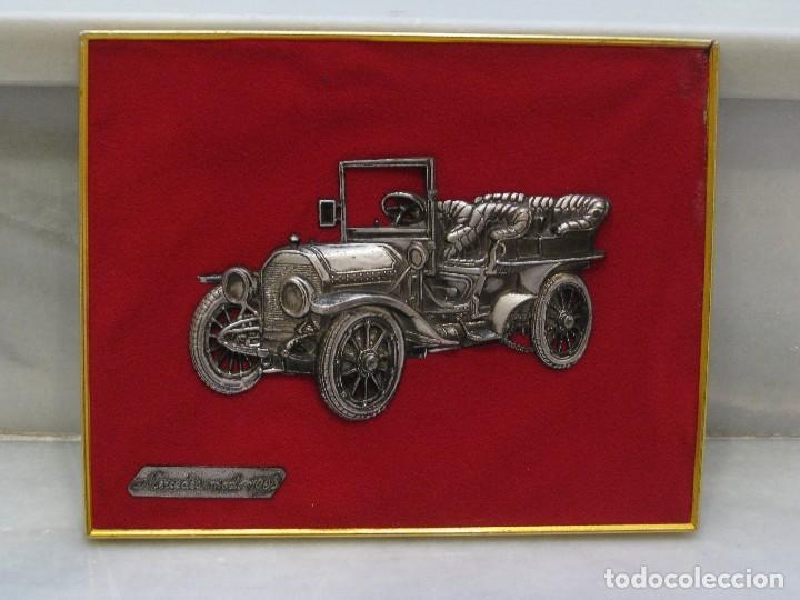 Coches y Motocicletas: Cuadro aterciopelado con Mercedes Mod.1903 en metal. - Foto 8 - 115363735