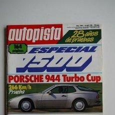 Coches y Motocicletas: REVISTA AUTOPISTA Nº 1500- PORSCHE 944 TURBO CUP. Lote 115507435