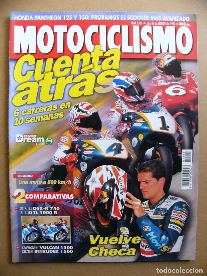 MOTOCICLISMO 1591 SUZUKI GSXR 750 TL 1000 R KAWASAKI VN 1500 SUZUKI INTRUDER HONDA PANTHEON (Coches y Motocicletas - Revistas de Motos y Motocicletas)