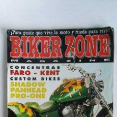 Coches y Motocicletas: BIKER ZONE MAGAZINE REVISTA MOTOS HARLEY. Lote 116135588