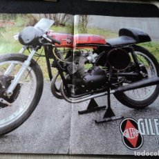 Coches y Motocicletas: POSTER A DOBLE CARA GILERA 125 Y BSA 500 46 X 30 CM. Lote 117981523