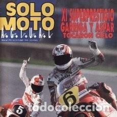Coches y Motocicletas: REVISTA SOLO MOTO ACTUAL Nº 804 AÑO 1991. PRU: HONDA NR. HONDA CBR SUPERSPORT. GILERA RT 50 * 30. Lote 119349191