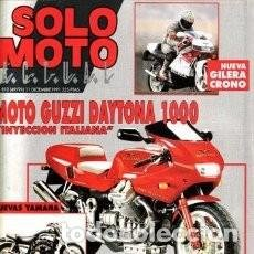 Coches y Motocicletas: REVISTA SOLO MOTO ACTUAL Nº 812 AÑO 1991. PRUEBA: MOTO GUZZI DAYTONA 1000. PRUEBA: KTM GS 125 * 30. Lote 119349335