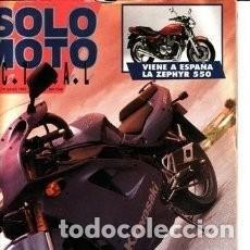 Coches y Motocicletas: REVISTA SOLO MOTO ACTUAL Nº 787 AÑO 1991. COMPARATIVA: KAWASAKI 750 ZXR Y KAWASAKI 750 ZXR R * 31. Lote 119350195