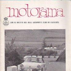 Coches y Motocicletas: REVISTA MOTORAMA Nº 8 RALLY DOS CATALUÑAS . Lote 120178091