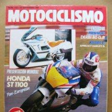 Coches y Motocicletas: MOTOCICLISMO Nº 1127 HONDA ST 1100 DERBI 80 GP NOVEDADES APRILIA Y HARLEY DAVIDSON 90. Lote 120834331